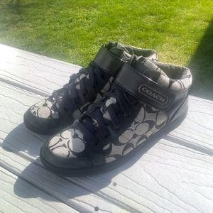 Coach Hightop Velcro Sneakers Size 6